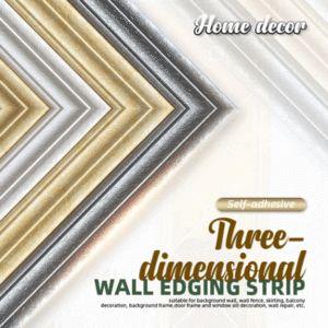 Self-adhesive 3D Wall Edging Strip - 7.55 feet – GetTheGarlic
