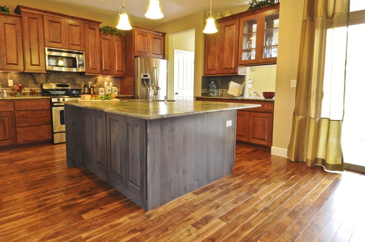 Wood Kitchen Cabinets With Hardwood Floors