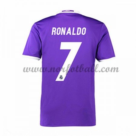 Billige Fotballdrakter Real Madrid 2016-17 Ronaldo 7 Borte Draktsett Kortermet