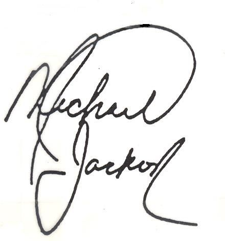Michael Jackson's signature - when he was a kid.