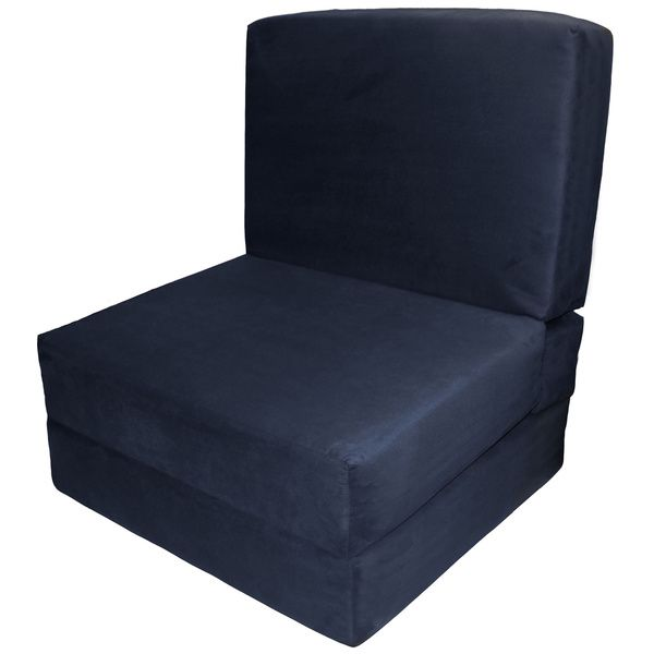 Nomad Adult Microfiber Suede Foam Sleeper Chair Bed