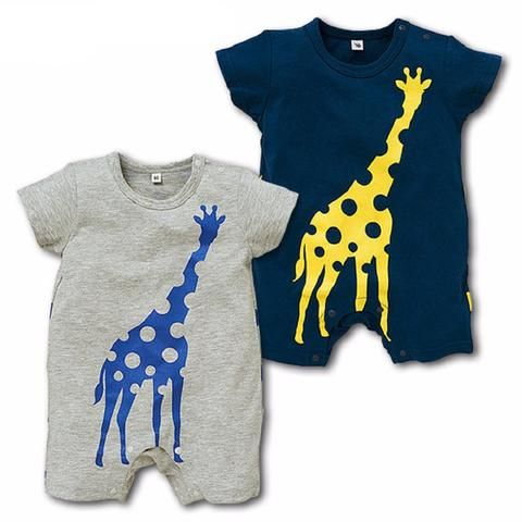 Baby Boy Rompers - Giraffe - Children's Clothing Boutique for Boys-$17.99  www.allthingslovelyshop.com