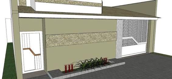 Resultado de imagem para muro alto com viga no alto e uma faixa de pedra de de fachada de casas