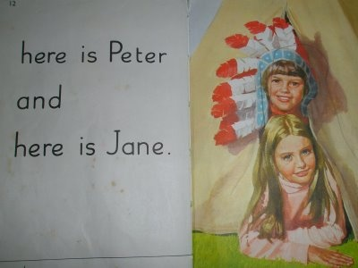 Peter and Jane reading books - I went through all of these