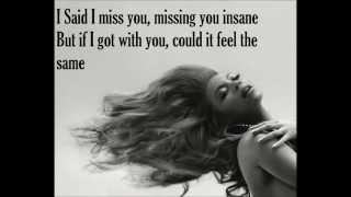 I miss you-Beyonce lyrics, via YouTube.