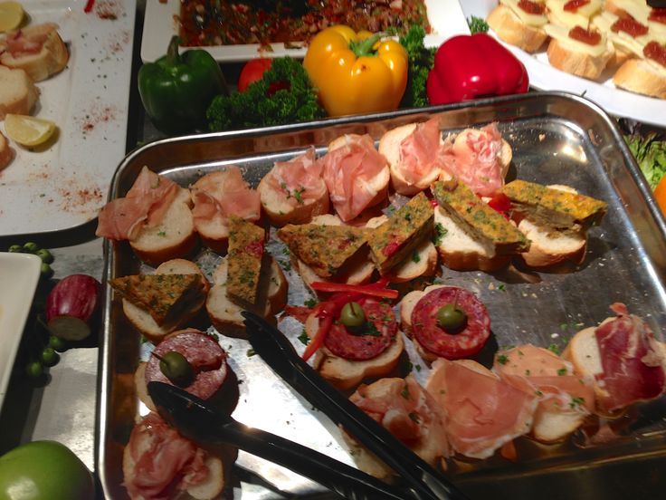 Tapas at the Cuckoo Restaurant on the  Latin American Night.