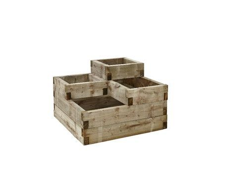 Plant a range of different things side by side with this Forest Tiered Raised Bed. This sturdy 4-tiered raised bed has multiple sections and holds a genero