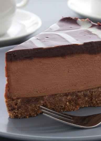Coffee+chocolate+cheesecake = perfection!