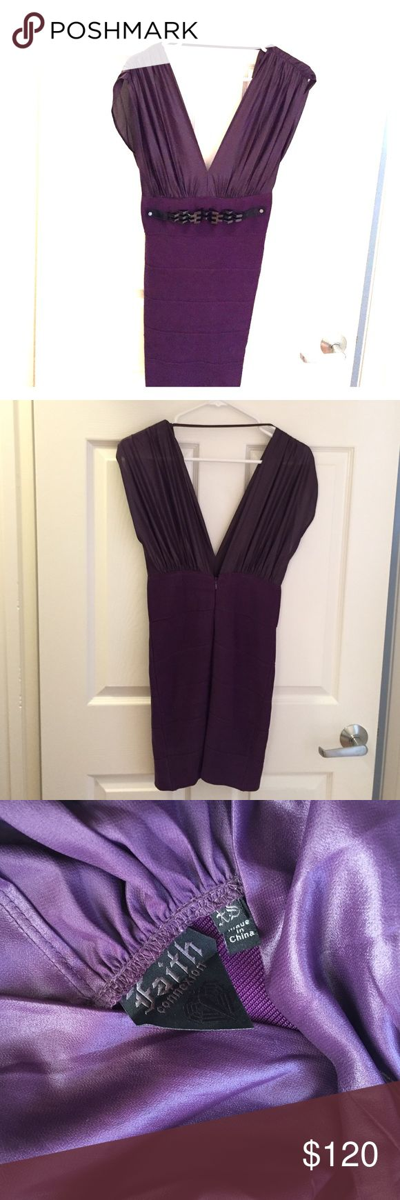 Faith Connexion purple bandage dress in XS Faith Connexion purple bandage dress in XS Faith Connexion Dresses