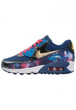 Nike Sportswear - AIR MAX 90 PREMIUM - Sneakers - metallic hematite/metallic gold/light photo blue/insignia blue/ember glow/white