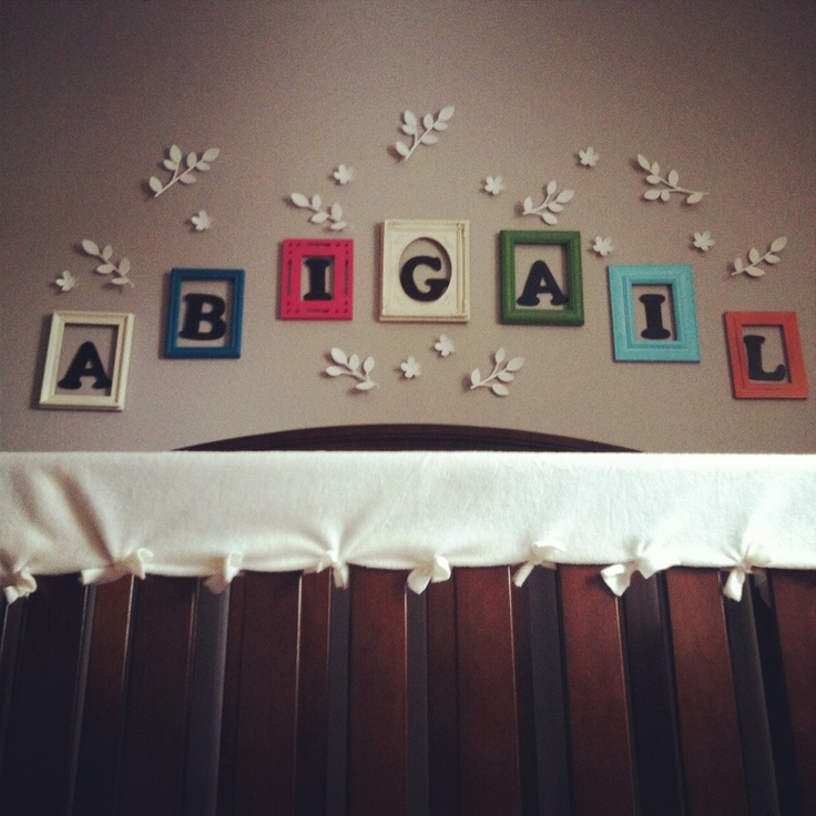 17 Adorable Ways To Decorate Above A Baby Crib: 17 Best Ideas About Name Above Crib On Pinterest