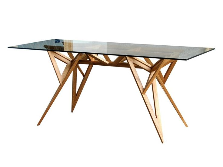 Rectangular wood and glass table SCHEGGE by Valsecchi 1918 design ivdesign.it