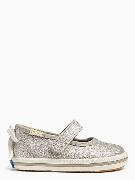 d01dd2f0b Keds X Kate Spade New York Sloan Mary Jane Crib Sneakers, Silver - Size 4