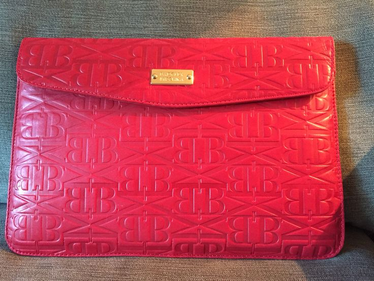 Badgley Mischka Red  Leather MacBook Air or Tablet Case (Found at Value Village/Waterloo NWOT for $9.99 MSRP $150+)