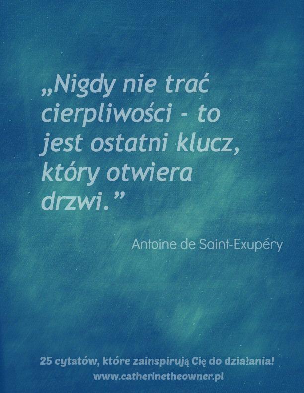 #cierpliwość #miłość #cytat #Antoine de Saint- Exupery  http://www.mydwoje.pl