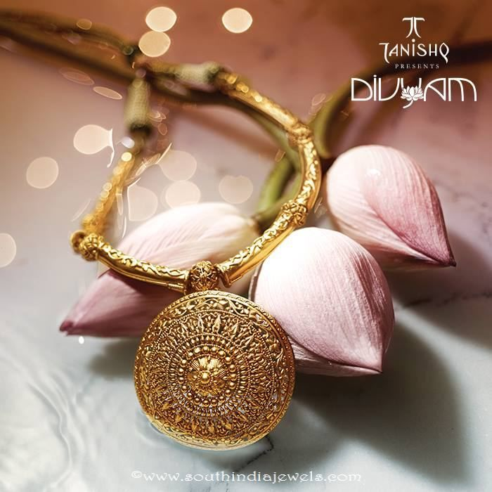 Gold Designer Necklace From Tanishq