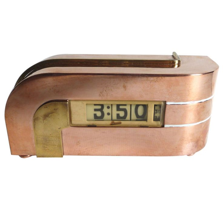 "Kem Weber Designed ""Zephyr"" Clock for Lawson 1930's / Off The Wall Antiques via 1stdibs: Vintage Clocks, Old Clocks, 1930S 1940S, Vintage Alarm Clocks, 1930S Clock, Clocks Watches Keys"