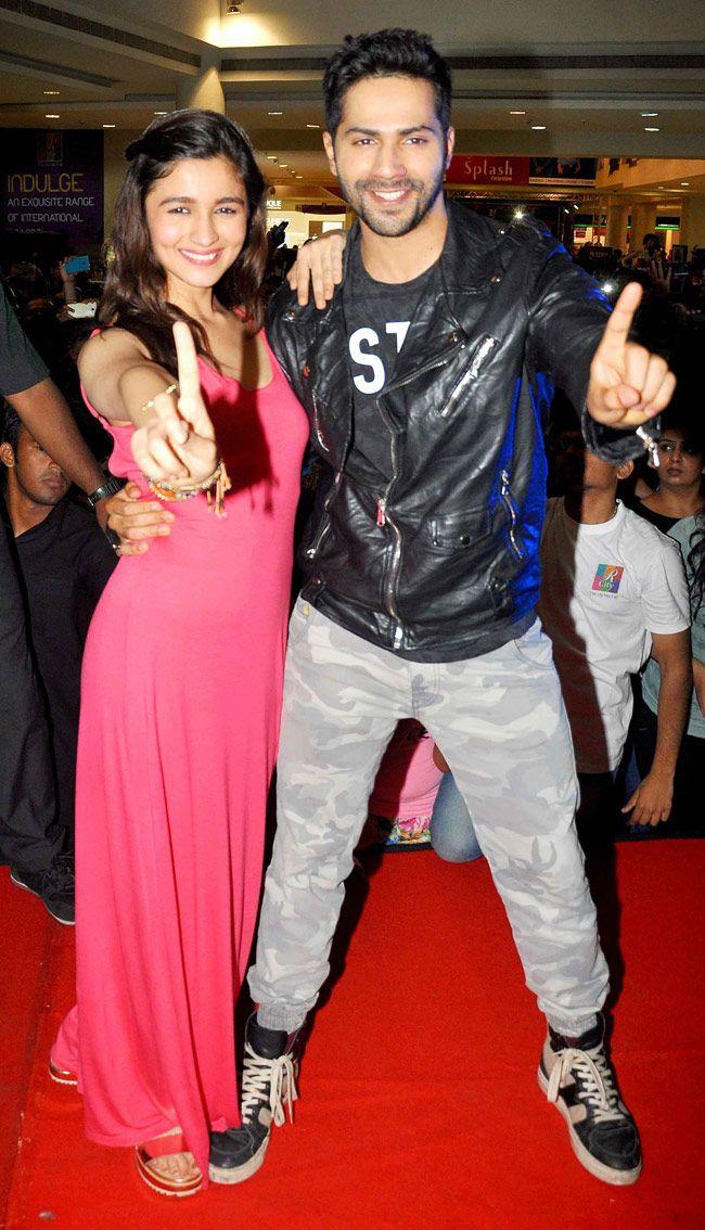 Varun Dhawan and Alia Bhatt during promotions of Humpty Sharma Ki Dulhaniya.