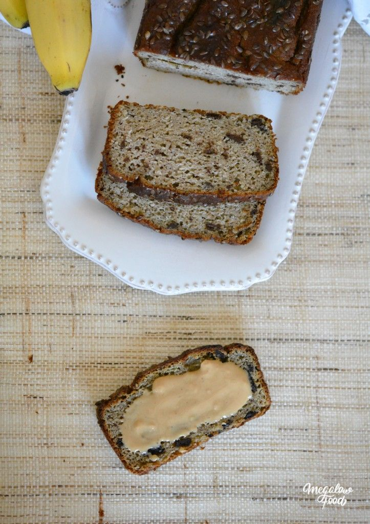 Healthy Banana Bread amande & graines de lin IG bas Sans gluten
