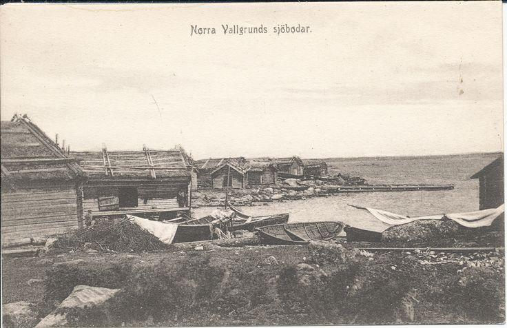 Norra Vallgrundin ranta-aittoja Raippaluodossa Sjöbodar vid Norra Vallgrund i Replot