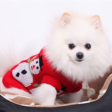 Christmas Style Snowman Pattern Sweater for Pets Dogs (Assorted Sizes) - USD $ 8.99