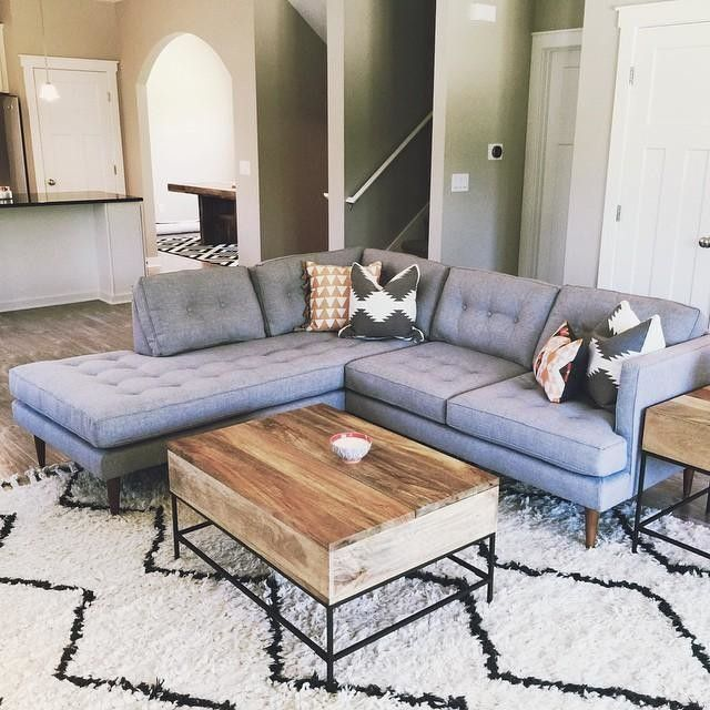 Love The Sectional Plus Plush Rug Combo To Separate Out Living Room Space