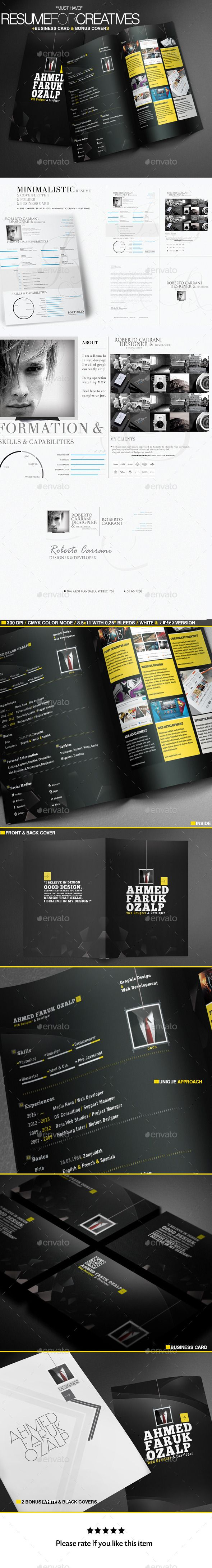 A Great Deal Creative Resume Templates 2in1
