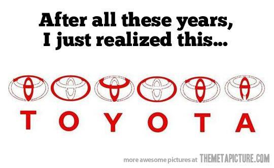 Toyota symbol!