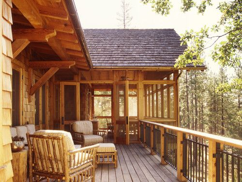 Best 25 cabin decks ideas on pinterest house in the for Rustic porches and decks