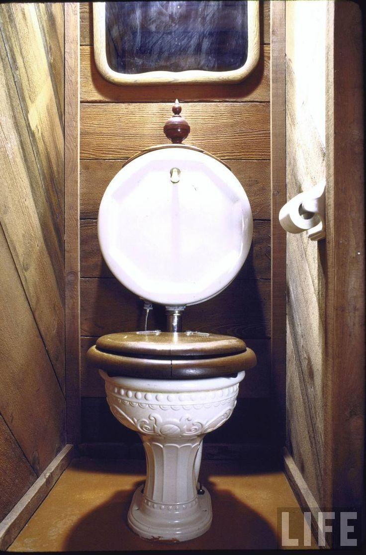 Antique toilet chair - John Holmes San Francisco Home