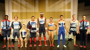 "Stella McCartney and Adidas unveiled the Olympic uniforms for Team Great Britain. A host of critics say the color palette doesn't have enough red, and that the heavy reliance on blue and white makes it look more Scottish: McCartney Tweeted that the uniform ""actually uses more red & shows more flag than any Team GB kit since '84."" [BBC, @Stella McCartney] https://twitter.com/#!/StellaMcCartney/status/182884946363420672"