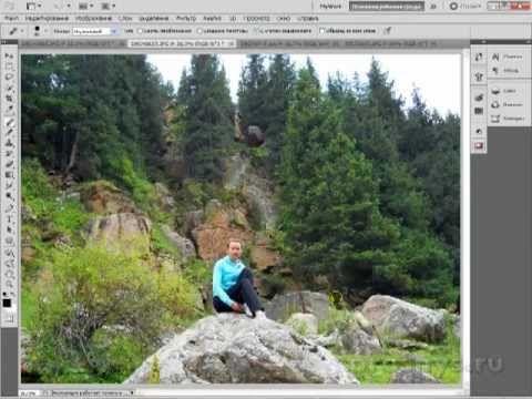 Фишки Фотошопа. Убираем лишнее с фотографии - YouTube