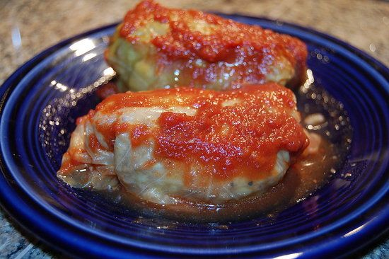 CrockPot Polish Stuffed Cabbage Rolls  Made this a few weeks ago and it was amazing !!! I used sausage and ground beef; and added extra cabbage into mixture.
