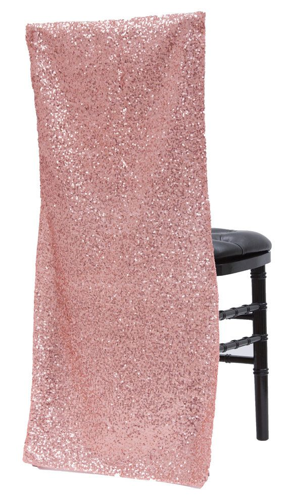 10 Sparkly Rose Gold Chair Covers Full Chair Back By