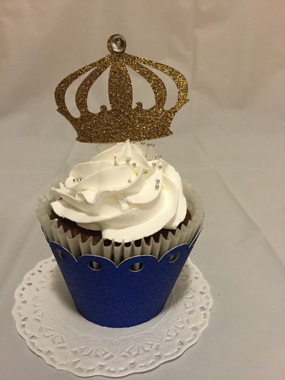 Crown cupcake toppers di Fancymycupcake su Etsy