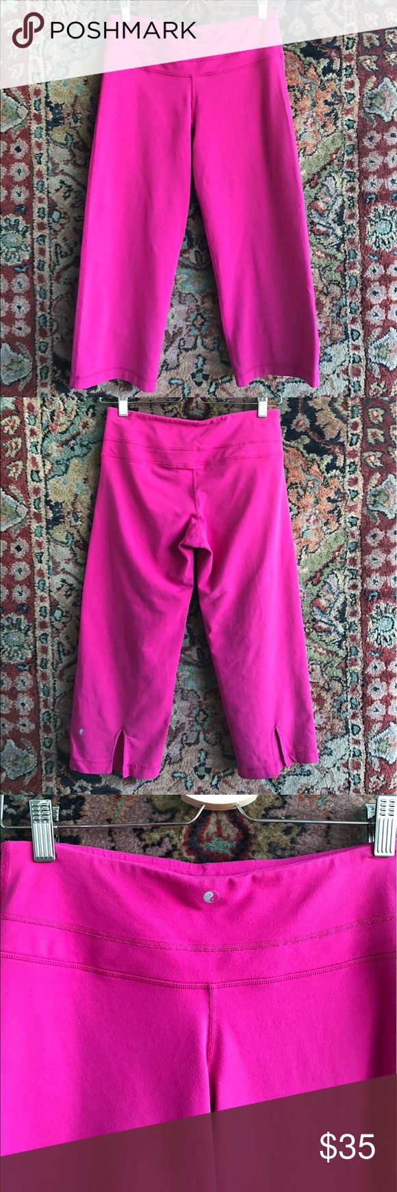 """Rese Pilates Cropped Pants Yoga, Pilates, errands... athleisure is the way and these are the pants you'll live in. Soft and stretchy keep you comfy and looking good. In great with a small dark spot on Leg as seen in last photo. Back calf slits for comfort. 13.5"""" waist, 9.25"""" rise and 21.5"""" inseam Rese Pilates Pants Capris"""