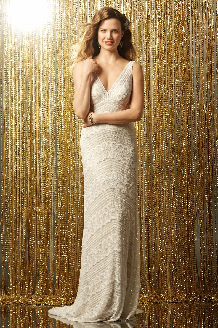 Don't like the cut, but do like the texture of the fabric (intricate without too much lace). | Wtoo Brides Pallas Gown