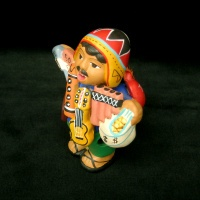 smoking ekeko doll.