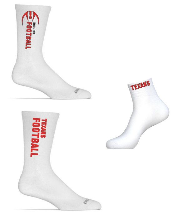 Houston Football Socks 3 Pairs of Custom Houston by ApparelHut