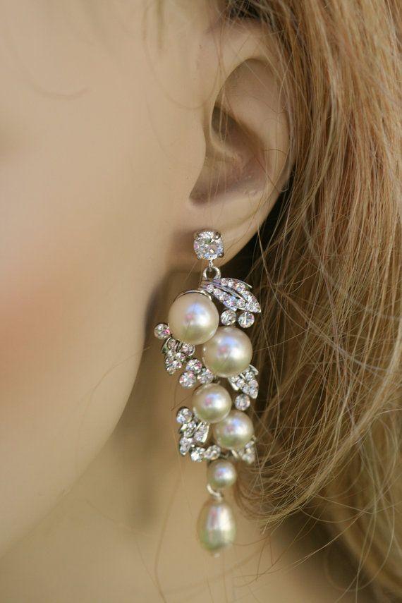 beautiful #pearl earrings