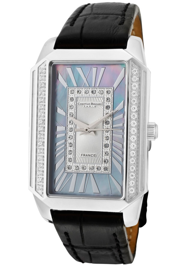 Price:$129.00 #watches Christian Bernard WA599ZWO4, Contemporary with a jewellery spirit which frames time, immortilizing exceptional moments