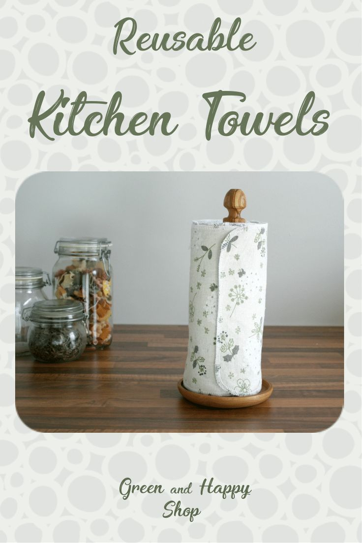 Reusable Paper Towel Roll Zero Waste Kitchen Decor Eco Friendly Gift For Mom Housewarming Gift Unpaper Cloth Napkins With Snaps Reusable Paper Towels House Warming Gifts Zero Waste Kitchen