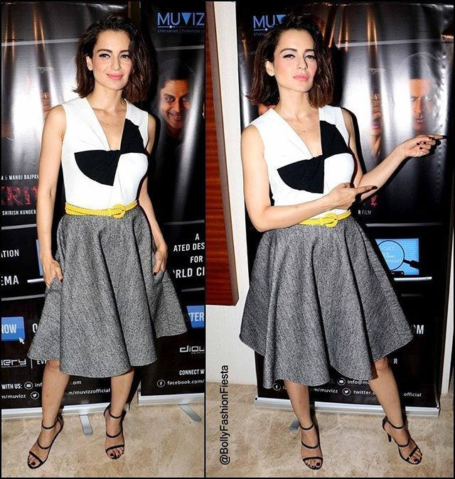 Gorgeous #KanganaRanaut In @PauleKaOfficial Fall 2016 at the Launch of Short Film #Kriti Directed By Shirish Kunder in Mumbai - Styled By @StyleByAmi.  #OOTD #PauleKa #Bollywood #BollywoodActress #CelebrityStyle #Fashion #Redcarpet #Glam #Beauty #Classy #Chic #StyleIcon #Fashionista #Love #BollyFashionFiesta