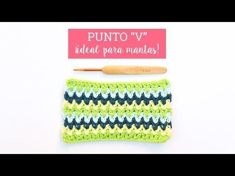 Punto V en ganchillo ¡Ideal para mantas! - YouTube