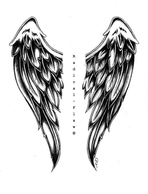 angel wing drawings angel wings by radicalflaw projects to try pinterest angel wings. Black Bedroom Furniture Sets. Home Design Ideas