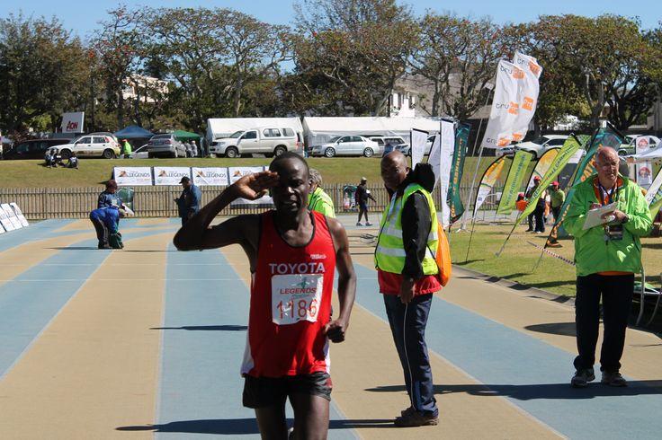 We love this ♥ Zimbabwe's #Makaza takes the gold at the inaugural #legendsmarathon 2013
