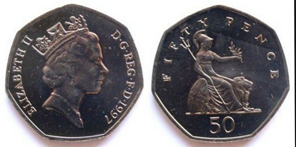 1997 to 2008 50p coin