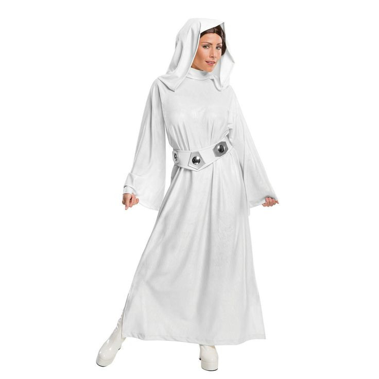 Star Wars Princess Leia Cosplay Costume White Halloween Fancy Dress
