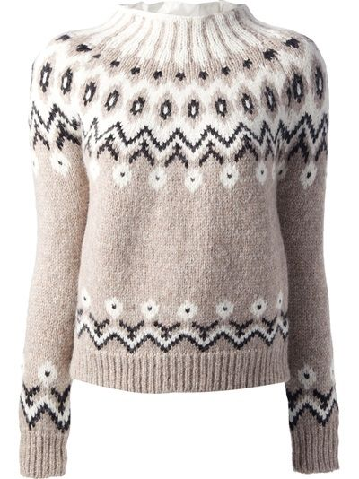MONCLER - fair isle knit sweater 6