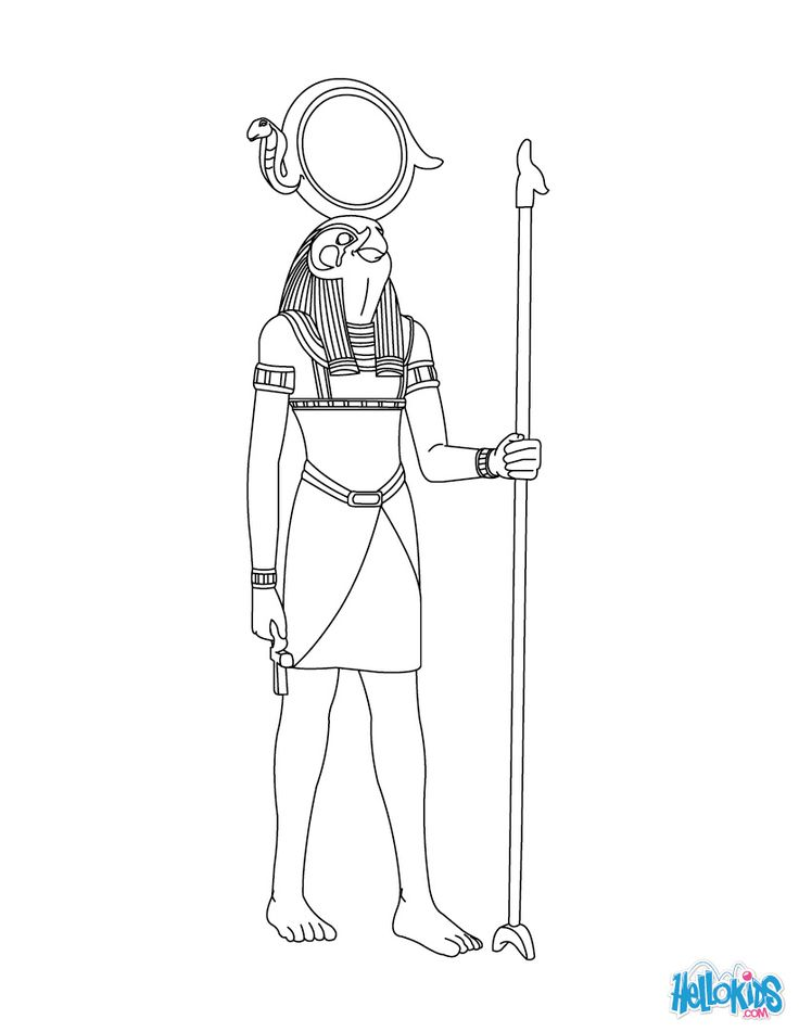 RE-HORAKHTY egyptian god free online coloring page